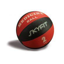 Медицинский мяч 2кг, цвет – черно/красный