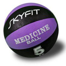 Медицинский мяч 5кг, цвет – черно/фиолетовый