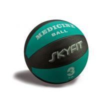 Медицинский мяч 3кг, цвет – черно/зеленый