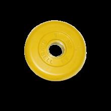 Диск обрезиненный желтого цвета, 1 кг MB-PltC31-1