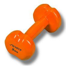 SF-VD-2K Гантель SKYFIT в виниловой оболочке 2 кг, цвет – оранжевый
