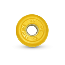 Диск обрезиненный желтого цвета, 0,5 кг MB-PltC31-0,5