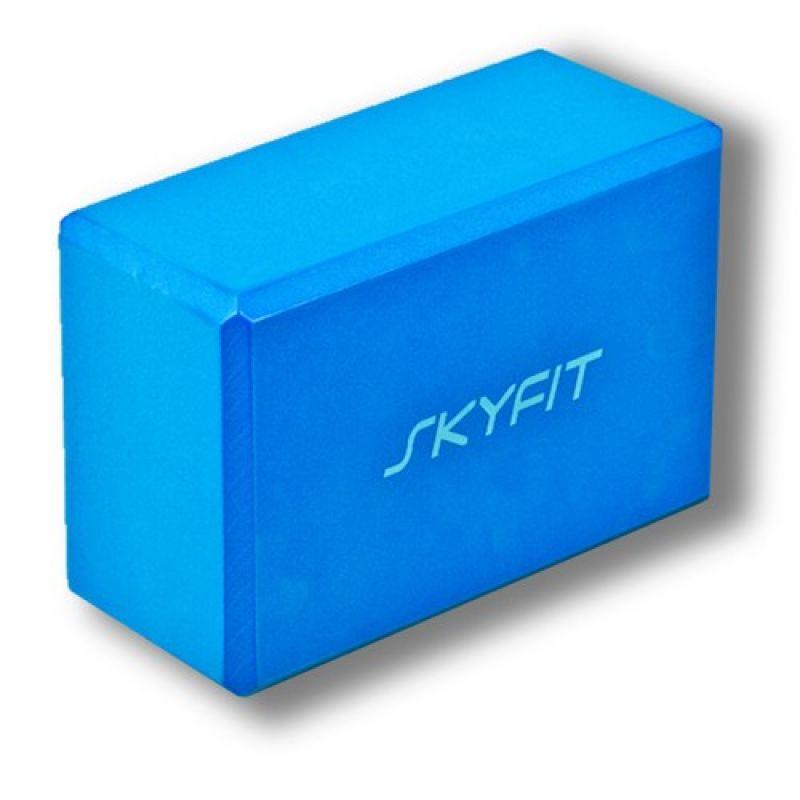 Купить Блок SKYFIT, для йоги, синий 23х15х10см цвет – голубой