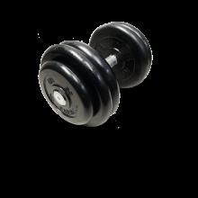 Гантель неразборная черная 26 кг MB-FdbM-B26