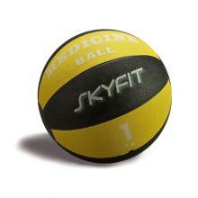 Медицинский мяч 1кг, цвет – черно/желтый