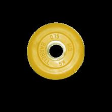 Диск обрезиненный желтого цвета, 0,75 кг MB-PltC31-0,75