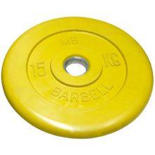 Диск обрезиненный желтого цвета, 15 кг MB-PltC31-15