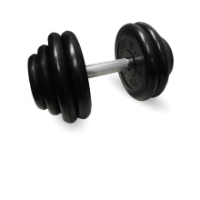 Гантель неразборная черная 28,5 кг MB-FdbM-B28,5