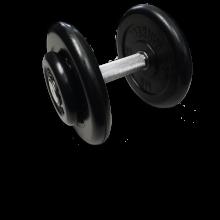 Гантель неразборная черная 13.5 кг MB-FdbM-B13,5