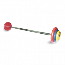 Штанга неразборная с цветными дисками MB-BarMW-C40