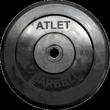 Диск обрезиненный Atlet, 10 кг MB-AtletB26-10