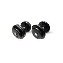Гантель неразборная черная 36 кг MB-FdbM-B36