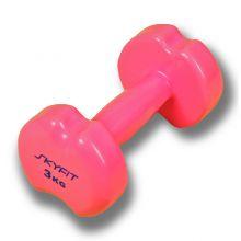 SF-VD-3K Гантель SKYFIT в виниловой оболочке 3 кг, цвет – розовый