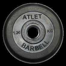Диск обрезиненный Atlet, 25 кг MB-AtletB26-1,25