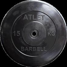 Диск обрезиненный Atlet, 15 кг MB-AtletB26-15