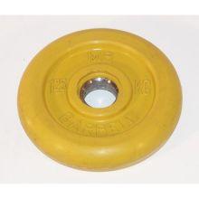 Диск обрезиненный желтого цвета, 1,25 кг MB-PltC31-1,25