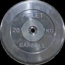 Диск обрезиненный Atlet, 20 кг MB-AtletB26-20