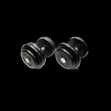 Гантель неразборная черная 38,5 кг MB-FdbM-B38,5