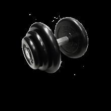 Гантель неразборная черная 18,5 кг MB-FdbM-B18,5