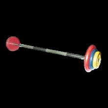 Штанга неразборная с цветными дисками MB-BarMW-C15