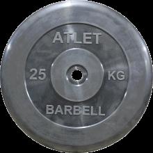 Диск обрезиненный Atlet, 25 кг MB-AtletB26-25